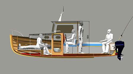 внутркняя устраивание катера
