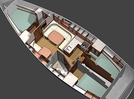 интерьер яхты