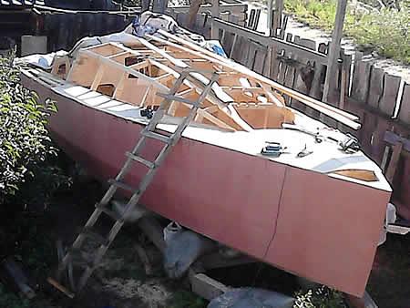 построить самодельную яхту